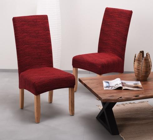 Vínové elastické napínací potahy na židle s opěradlem (EP4) - JIMI Textil