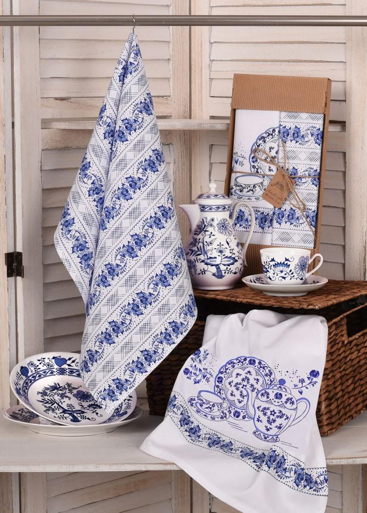Savé bavlněné utěrky UT57 - Motiv cibulák - JIMI Textil
