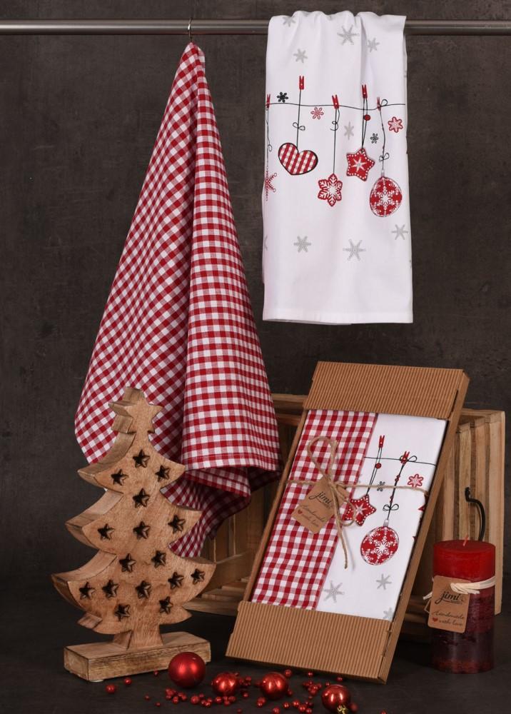 Bavlněné utěrky UT52 - Vánoční ozdoby - JIMI Textil