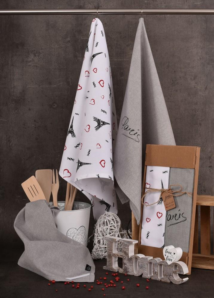Bavlněné utěrky UT45 s motivem PARIS - JIMI Textil