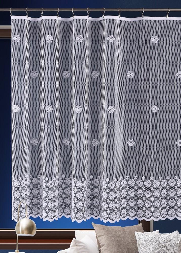 Metrážová záclona JIMI Textil M103 - květy