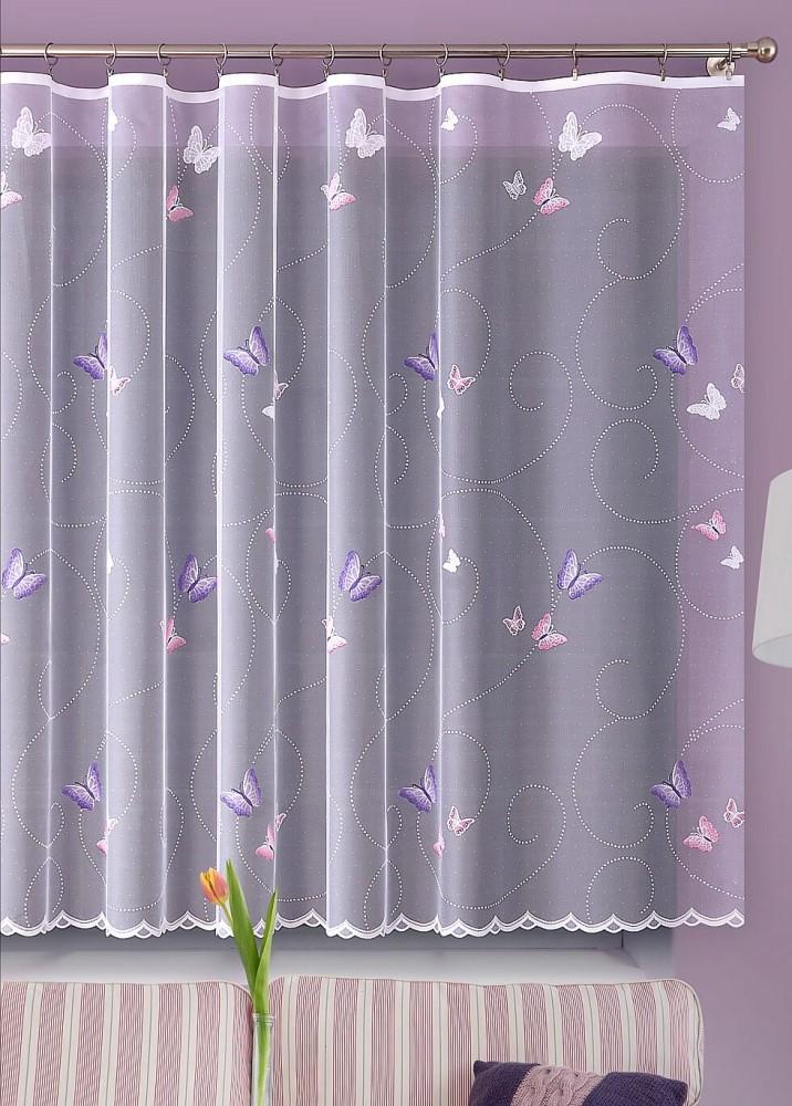 Metrážová žakarová záclona