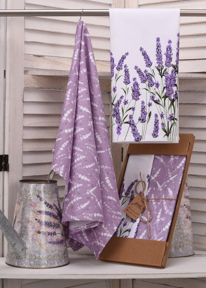 Savé bavlněné utěrky UT58 - Motiv levandule - JIMI Textil