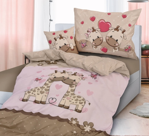 Obrazová ložní souprava bavlna exclusive ŽIRAFY