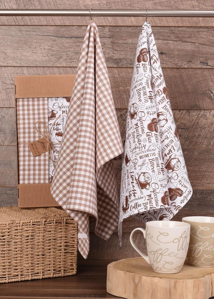 Bavlněné utěrky UT61 - Motiv káva - JIMI Textil