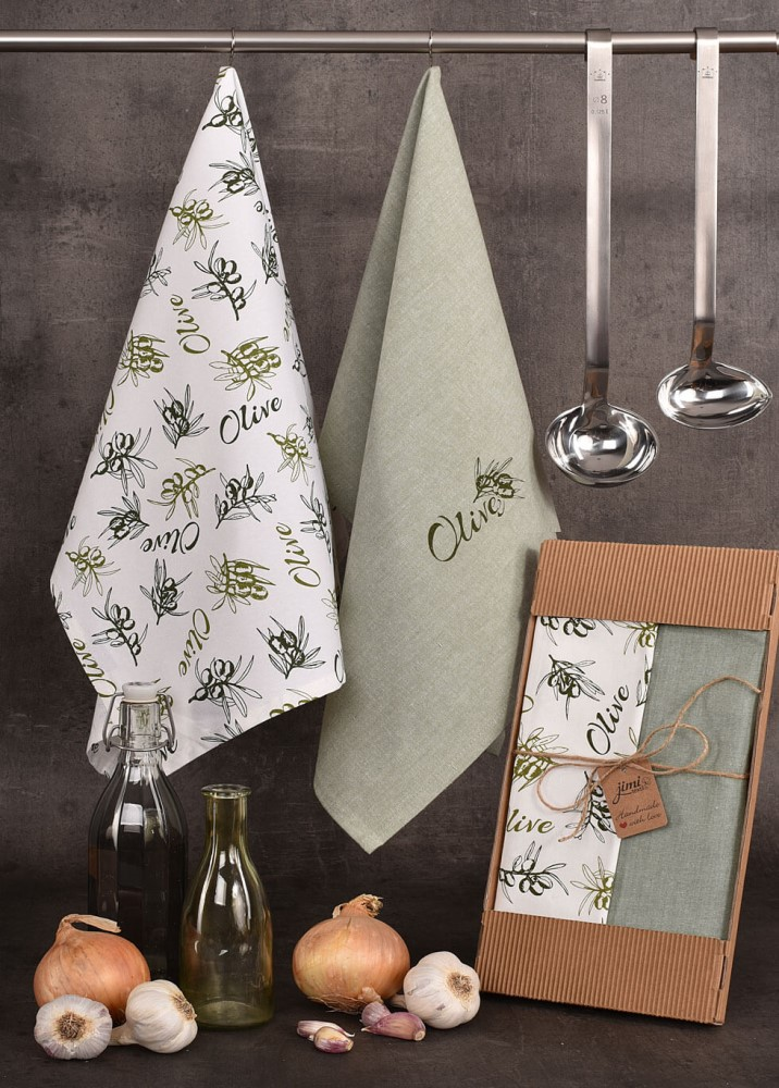 Bavlněné utěrky s olivami (UT47) - JIMI Textil